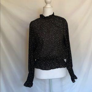 Holiday turtleneck blouse